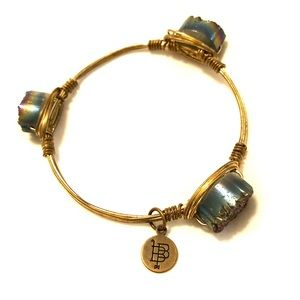 Bourbon and Boweties Navy Stone Bracelet